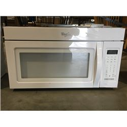WHIRLPOOL WHITE BUILTIN MICROWAVE OVEN (MISSING CARROUSEL & GLASS TRAY)