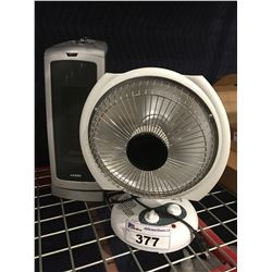 2 PORTABLE ELECTRIC HEATERS