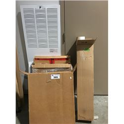 GROUP OF ASST'D FURNACE COVERS & VENT TERMINATION KIT
