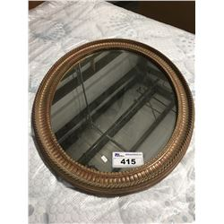 OVAL FRAMED DECORATIVE WALL MIRROR