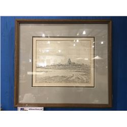 FRAMED ORIGINAL  PENCIL SKETCH BY CELEBRATED CANADIAN ARTIST ERNEST LUTHI (1906-1983) DATED APRIL