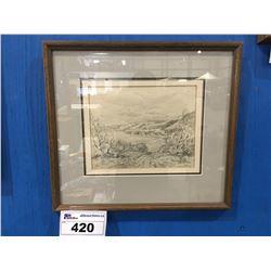 FRAMED ORIGINAL PENCIL SKETCH BY CELEBRATED CANADIAN ARTIST ERNEST LUTHI (1906-1983) DATED