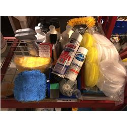 GROUP LOT OF ASST'D PROFESSIONAL VEHICLE DETAILING PRODUCTS (E)
