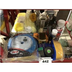 GROUP LOT OF ASST'D PROFESSIONAL VEHICLE DETAILING PRODUCTS (F)