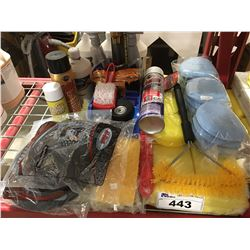 GROUP LOT OF ASST'D PROFESSIONAL VEHICLE DETAILING PRODUCTS (G)