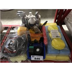GROUP LOT OF ASST'D PROFESSIONAL VEHICLE DETAILING PRODUCTS (J)