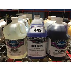 9 - 1 GAL CONTAINERS OF ASST'D PROFESSIONAL AUTO DETAILING CLEANERS (A)