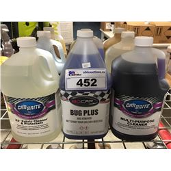 9 - 1 GAL CONTAINERS OF ASST'D PROFESSIONAL AUTO DETAILING CLEANERS (D)