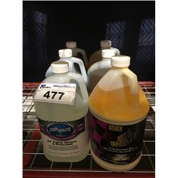6 - 1 GAL CONTAINERS OF ASST'D PROFESSIONAL AUTO DETAILING CLEANERS (E)