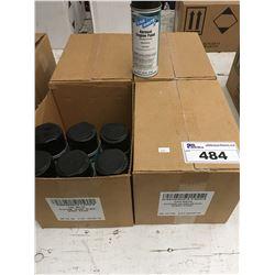 43 CANS CAR BRITE AEROSOL ENGINE PAINT GLOSS BLACK