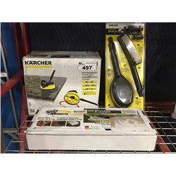 3 ASST'D CLEANING PRODUCTS KARCHER BRUSHES/SCOTCH BRITE QUICK CLEAN