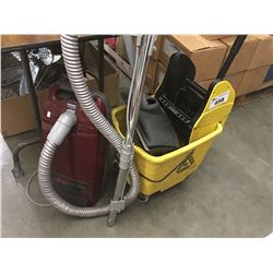 COMMERCIAL MOP BUCKET, DUST PAN & CANNISTER VACUUM