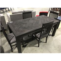 CONTEMPORARY 5 PCE DRIFT OAK 2 TONE GREY DINING TABLE & CHAIR SET