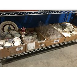 4 BOXES OF ASST'D CHINA & GLASSWARES