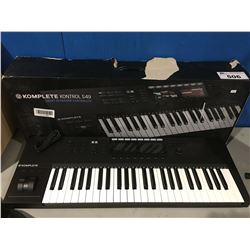 KOMPLETE KONTROL S49 SMART KEYBOARD CONTROLLER (MISSING AC ADAPTER PLUG)