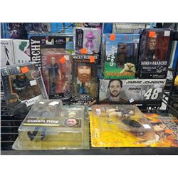 ASSORTED COLLECTIBLE FIGURES INCLUDING SONS OF ANARCHY, DUCK DYNASTY, BREAKING BAD AND MORE