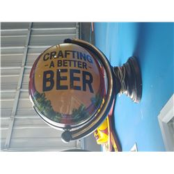 """MICHELOB """"CRAFTING A BETTER BEER"""" LIGHT-UP BEER SIGN"""
