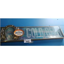"LIGHT OLYMPIA BEER ""COLD BEER"" LIGHT-UP BEER SIGN"