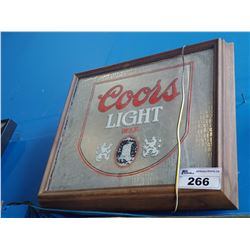 COORS LIGHT BEER LIGHT-UP BEER SIGN