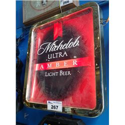 MICHELOB ULTRA AMBER LIGHT BEER LIGHT-UP BEER SIGN