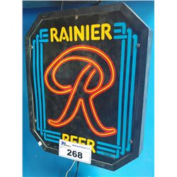RAINIER BEER LIGHT-UP BEER SIGN