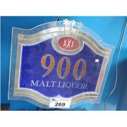 XXX 900 MALT LIQUOR LIGHT-UP SIGN