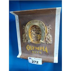 GOOD LUCK OLYMPIA BEER LIGHT-UP BEER SIGN