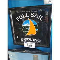 "FULL SAIL BREWING ""BEER YOU CAN BELIEVE IN"" LIGHT-UP BEER SIGN"