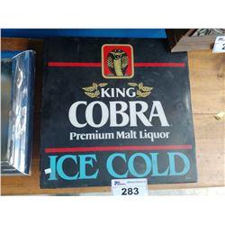 KING COBRA PREMIUM MALT LIQUOR ICE COLD LIGHT-UP SIGN