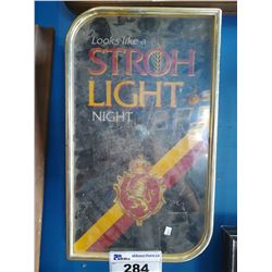 LOOKS LIKE A STROH LIGHT NIGHT LIGHT-UP BEER SIGN