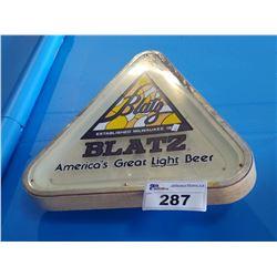 BLATZ AMERICA'S GREAT LIGHT BEER LIGHT-UP BEER SIGN