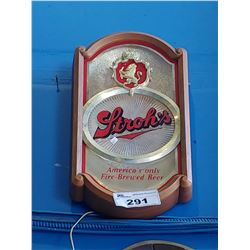 STROH'S AMERICA'S ONLY FIRE-BREWED BEER LIGHT-UP BEER SIGN