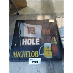 MICHELOB 19TH HOLE LIGHT-UP BEER SIGN