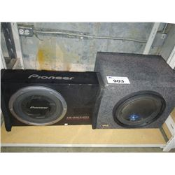 PAIR OF SUBWOOFERS (ALPINE & PIONEER)