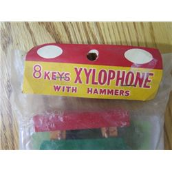 CHILDS XYLOPHONE & MUSIC (SEALED NEVER OPENED) *8 KEYS W/HAMMERS*