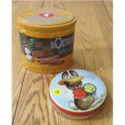 COLLECTIBLE TIN (DR. OETKER RILEY) *TOFFEE/MOUSE*
