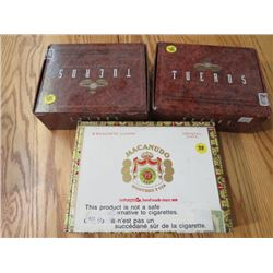 LOT OF 2 CIGAR BOXES (2 TUEROS HAVANA, MACANUDO) *WOODEN*