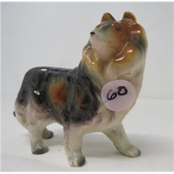 COLLIE DOG FIGURINE *HAND DECORATED*