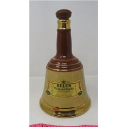 WHISKEY DECANTER (BELL'S OLD SCOTCH WHISKEY) *BELL SHAPED*