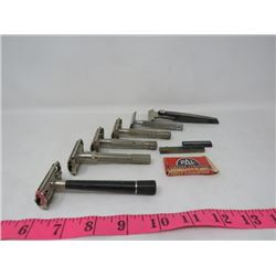 LOT OF 6 RAZORS (SCHICKS DIAL) *W/ PAL BLADES*