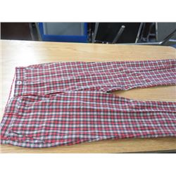 "PLAID PANTS *VINTAGE 1960s* (W 34"" X L 32"") BELL BOTTOM"