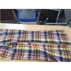 "PLAID PANTS *VINTAGE 1960s* (W 36"" X L 34"") BELL BOTTOM"
