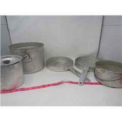 POTS & PANS (ALUMINUM) *ASSORTED CAMPING*