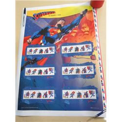 2013 UNCUT PRESS SHEET OF STAMPS (SUPERMAN 75TH ANNIV) *RETAIL $25.00 2013*