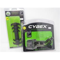 LOT OF 2 ARCHERY ACCESSORIES 'CYBEX' MULTI PIN SIGHT, FLEX BLADE *6½ *
