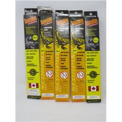 LOT OF 5 HUNTING ACCESSORIES (SCORPION STRINGS) *31 7/8  TO 90 *