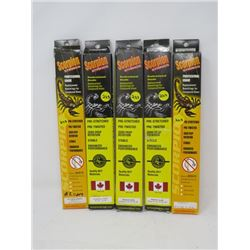 LOT OF 5 HUNTING ACCESSORIES (SCORPION STRINGS) *42 1/16  TO 51¾ * (1 PKG CABLES ONLY)