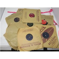 78 RPM RECORDS (RCA, VICTOR, COLUMBIA, ETC) *QTY 8* 'EDDIE ARNOLD, LOUIS ARMSTRONG ETC'