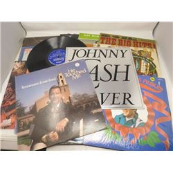 LP RECORDS (QTY 15) 'TENNESSEE ERNIE FORD, JOHNNY CASH, ELVIS, ETC' (1 W/O SLEEVE)