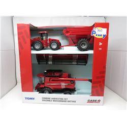 CASE 8230 COMBINE, STX500 TRACTOR AND GRAIN CART IN BOX